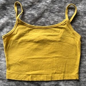 Yellow Cropped tank